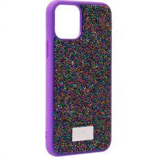 Чехол-накладка силиконовая со стразами SWAROVSKI Crystalline для iPhone 11 Pro Max Ультрафиолет №2