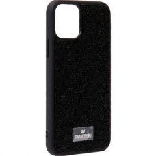 Чехол-накладка силиконовая со стразами SWAROVSKI Crystalline для iPhone 11 Pro Max Черный №5