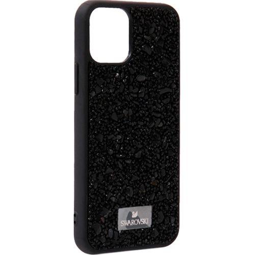 Чехол-накладка силиконовая со стразами SWAROVSKI Crystalline для iPhone 11 Pro Max Черный №6