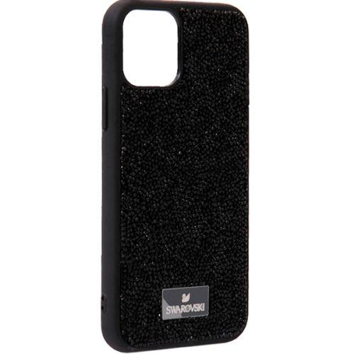 Чехол-накладка силиконовая со стразами SWAROVSKI Crystalline для iPhone 11 Pro Max Черный №7