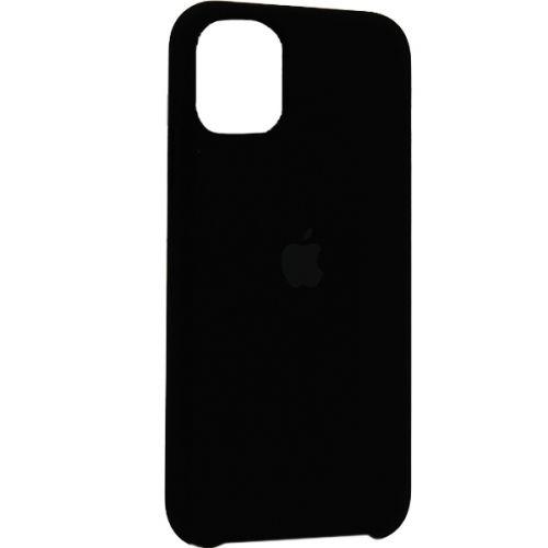 Чехол-накладка силиконовый Silicone Case для iPhone 11 Black Черный №18