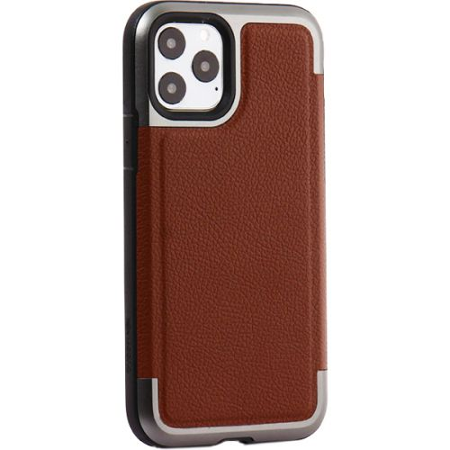 Чехол-накладка противоударный X-DORIA Defense Prime кожа для Iphone 11 Pro Коричневый