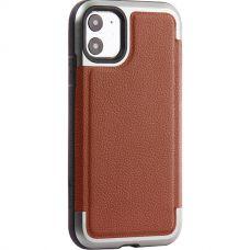 Чехол противоударный X-DORIA кожа для Iphone 11 Коричневый