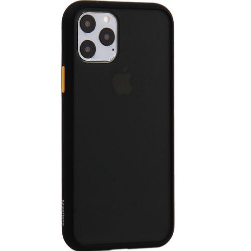 Чехол-накладка пластиковый KeepHone Armor Series для iPhone 11 Pro с силиконовыми бортами Черный