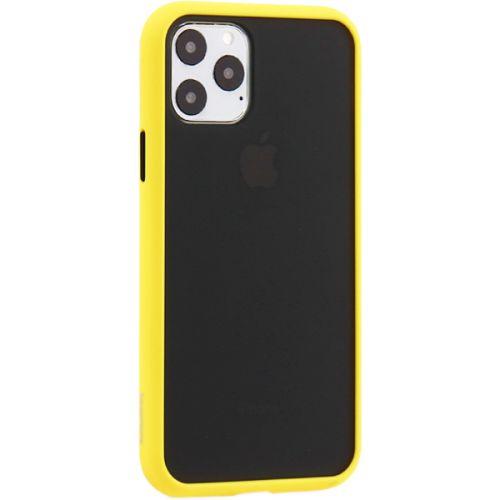 Чехол-накладка пластиковый KeepHone Armor Series для iPhone 11 Pro с силиконовыми бортами Желтый