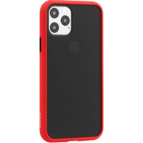 Чехол-накладка пластиковый KeepHone Armor Series для iPhone 11 Pro с силиконовыми бортами Красный