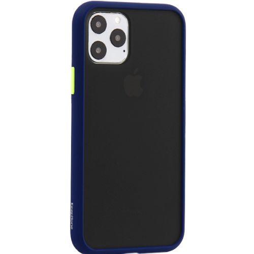 Чехол-накладка пластиковый KeepHone Armor Series для iPhone 11 Pro с силиконовыми бортами Темно-синий