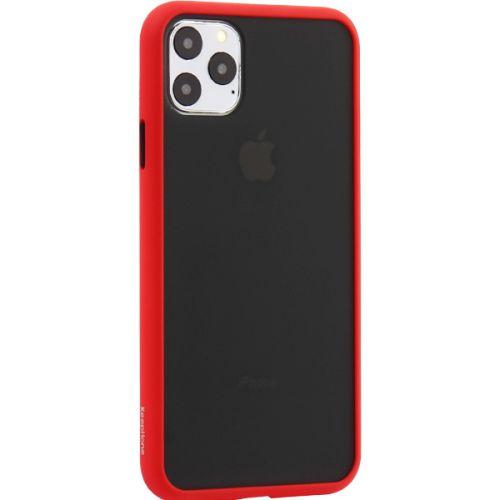 Чехол-накладка пластиковый KeepHone Armor Series для iPhone 11 Pro Max с силиконовыми бортами Красный