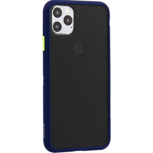 Чехол-накладка пластиковый KeepHone Armor Series для iPhone 11 Pro Max с силиконовыми бортами Темно-синий