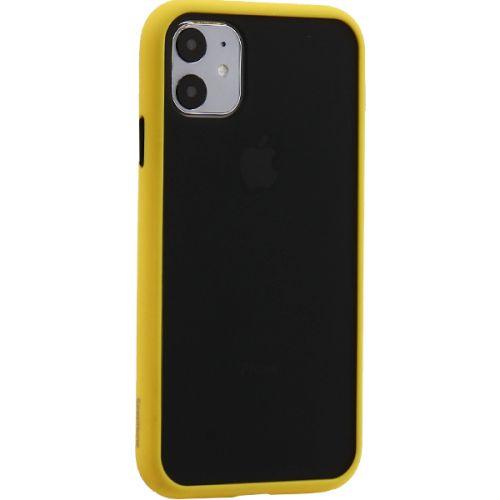 Чехол KeepHone Armor Series для iPhone 11 с силиконовыми бортами Желтый