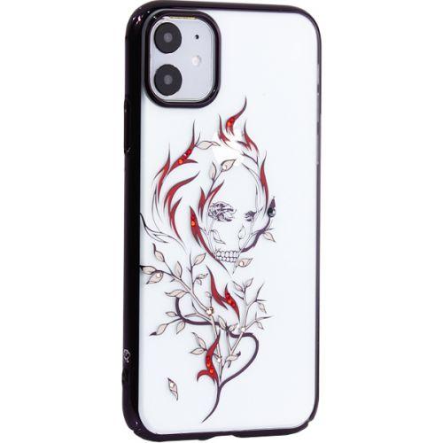 Чехол-накладка KINGXBAR для iPhone 11 пластик со стразами Swarovski Цветочная фея черный