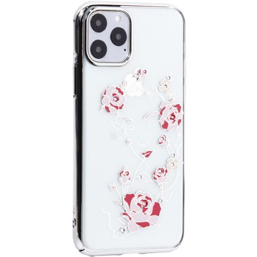 Чехол-накладка KINGXBAR для iPhone 11 Pro пластик со стразами Swarovski 49F Цветочная фея серебристый