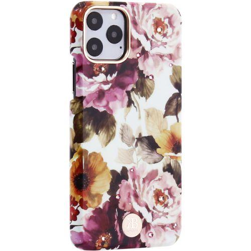 Чехол-накладка KINGXBAR для iPhone 11 Pro пластик со стразами Swarovski (Пион)