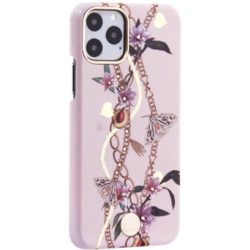 Чехол-накладка KINGXBAR для iPhone 11 Pro пластик со стразами Swarovski (Сахарная пудра) розовый