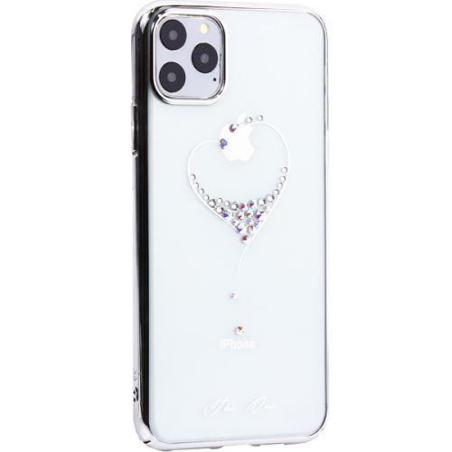 Чехол-накладка KINGXBAR для iPhone 11 Pro Max пластик со стразами Swarovski 49F серебристый (The One)