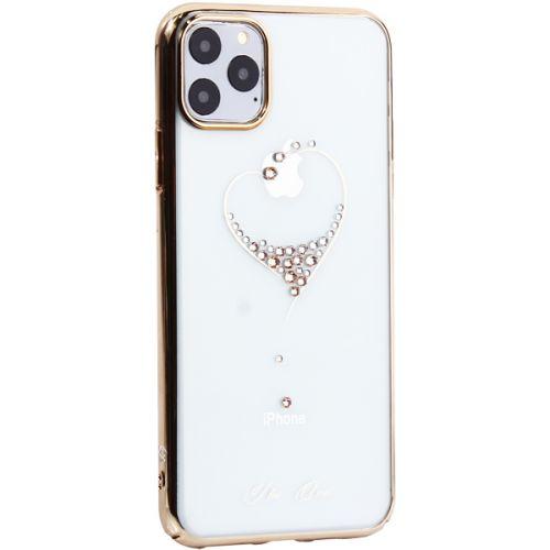Чехол-накладка KINGXBAR для iPhone 11 Pro Max пластик со стразами Swarovski 49F золотистый (The One)
