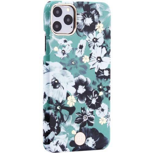 Чехол-накладка KINGXBAR для iPhone 11 Pro Max пластик со стразами Swarovski (Цветочная фея) зеленый