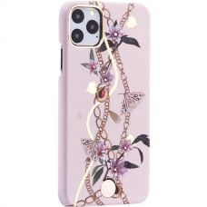 Чехол-накладка KINGXBAR для iPhone 11 Pro Max пластик со стразами Swarovski (Сахарная пудра) розовый
