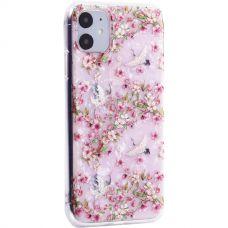 Чехол-накладка пластиковый Fashion Case для iPhone 11 с силиконовыми бортами Розовый вид №1