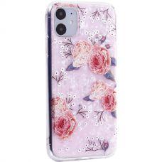 Чехол-накладка пластиковый Fashion Case для iPhone 11 с силиконовыми бортами Розовый вид №3
