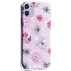 Чехол-накладка пластиковый Fashion Case для iPhone 11 с силиконовыми бортами Розовый вид №5