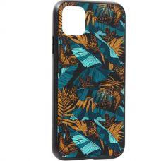 Чехол закаленное стекло Deppa Glass Case для iPhone 11 2.0мм Джунгли