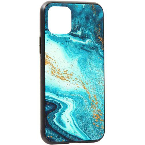 Чехол-накладка закаленное стекло Deppa Glass Case для iPhone 11 Pro 2.0мм Голубой Агат