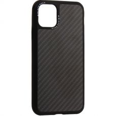 Чехол-накладка Black Rock Robust Case Real Carbone для iPhone 11 Pro Max противоударный Черный