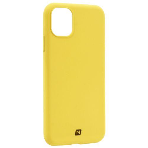 Чехол-накладка силикон Momax Silky & Soft Silicone Case для iPhone 11 Желтый