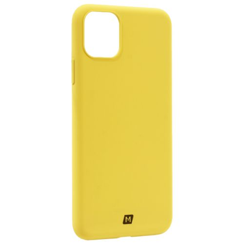 Чехол-накладка силикон Momax Silky & Soft Silicone Case для iPhone 11 Pro Max Желтый