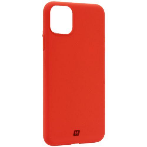 Чехол-накладка силикон Momax Silky & Soft Silicone Case для iPhone 11 Pro Max Оранжевый