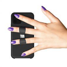 Чехол-накладка силикон White Diamonds Bow Silicone Case для iPhone 11 Черный