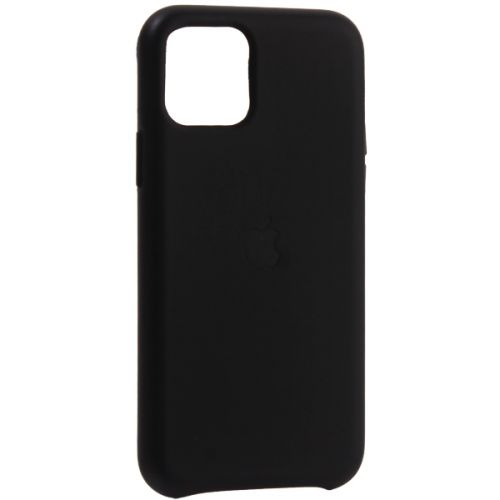 Чехол-накладка кожаная Leather Case для iPhone 11 Pro Black Черный