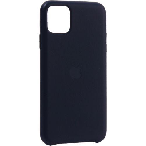 Чехол-накладка кожаная Leather Case для iPhone 11 Pro Max Midnight Blue Темно-синий