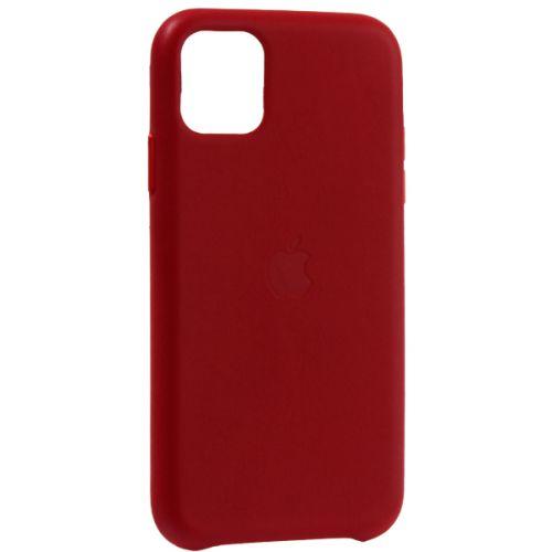 Чехол-накладка кожаная Leather Case для iPhone 11 Red Красный