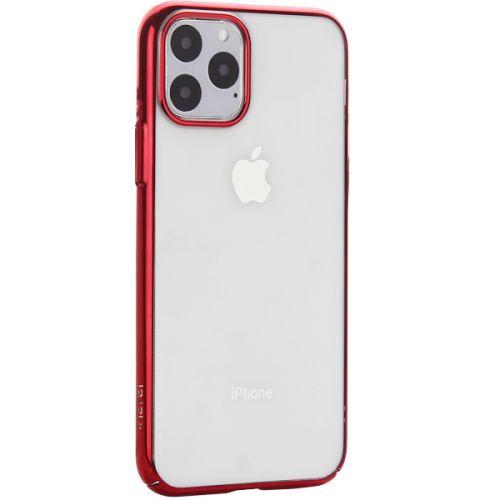 Чехол-накладка пластиковый X-Level для iPhone 11 Pro Красный глянцевый борт
