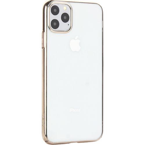 Чехол-накладка пластиковый X-Level для iPhone 11 Pro Max Золотой глянцевый борт