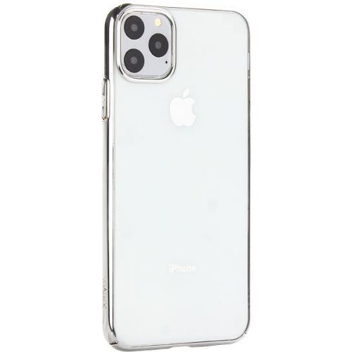 Чехол-накладка пластиковый X-Level для iPhone 11 Pro Max Серебристый глянцевый борт