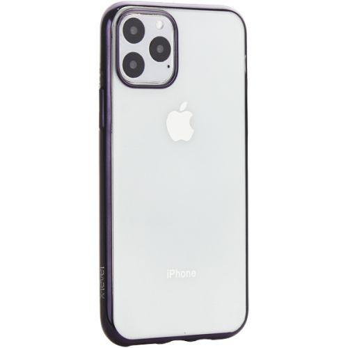 Чехол-накладка силиконовый X-Level для iPhone 11 Pro Черный глянцевый борт