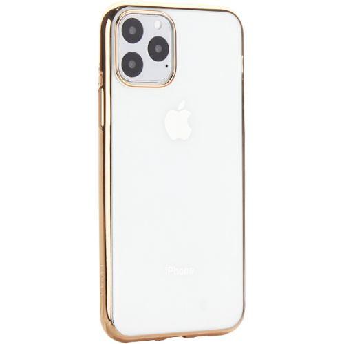 Чехол-накладка силиконовый X-Level для iPhone 11 Pro Золотой глянцевый борт