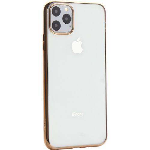 Чехол-накладка силиконовый X-Level для iPhone 11 Pro Max Золотой глянцевый борт