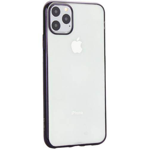 Чехол-накладка силиконовый X-Level для iPhone 11 Pro Max Черный глянцевый борт