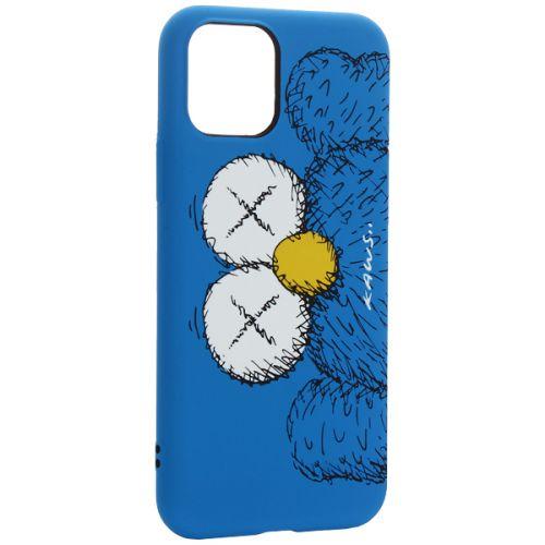 Чехол-накладка силикон Luxo для iPhone 11 Pro  0.8мм с флуоресцентным рисунком KAWS Синий