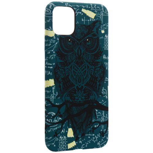 Чехол-накладка силикон Luxo для iPhone 11 Pro Max 0.8мм с флуоресцентным рисунком Сова 3еленая