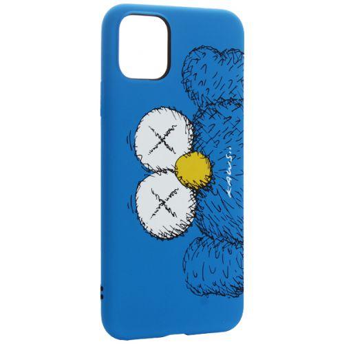 Чехол-накладка силикон Luxo для iPhone 11 Pro Max 0.8мм с флуоресцентным рисунком KAWS Синий