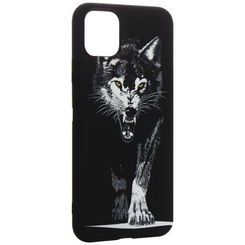 Чехол-накладка силикон Luxo для iPhone 11 Pro Max 0.8мм с флуоресцентным рисунком Волк Черный