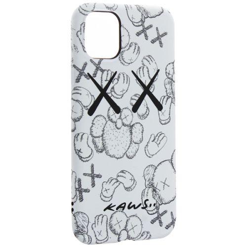 Чехол-накладка силикон Luxo для iPhone 11 0.8мм с флуоресцентным рисунком KAWS Белый