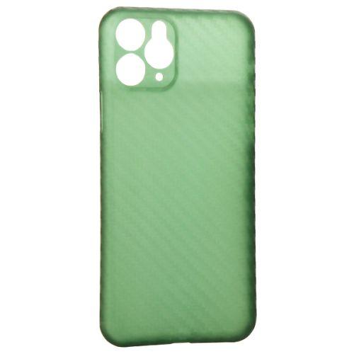Чехол-накладка карбоновая K-Doo Air Carbon 0.45мм для Iphone 11 Pro Зеленая