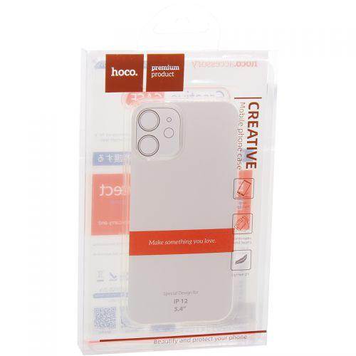 """Чехол силиконовый Hoco Light Series для iPhone 12 mini (5.4"""") Прозрачный"""