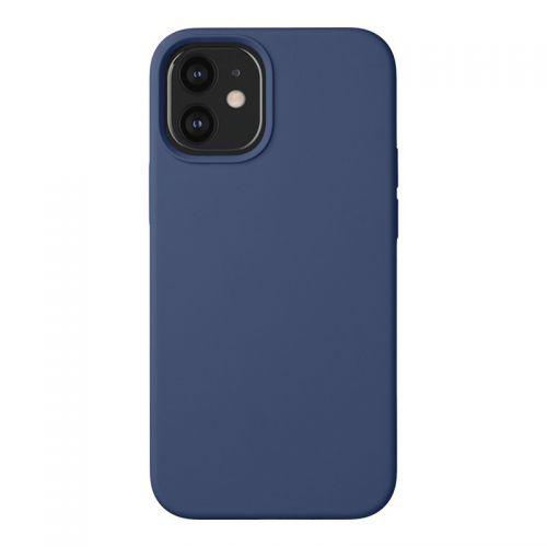 """Чехол-накладка силикон Deppa Liquid Silicone Case D-87714 для iPhone 12 mini (5.4"""") 1.7мм Синий"""
